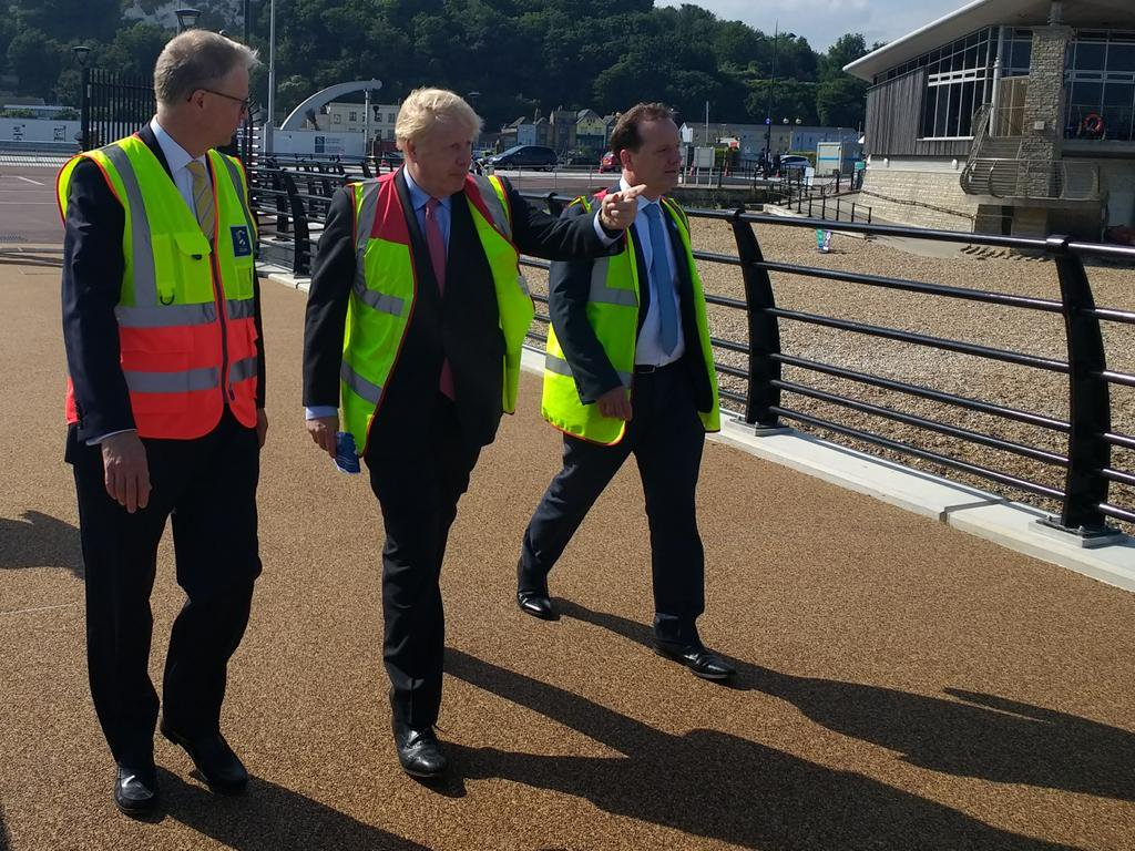 Boris Johnson visits Port of Dover
